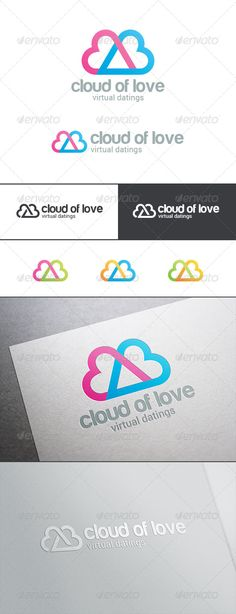 Dating Love Cloud Logo  #graphicriver