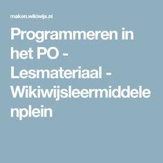 Programmeren in het PO - Lesmateriaal - Wikiwijsleermiddelenplein