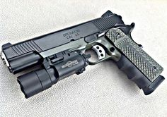 Springfield MC Operator Springfield Pistols, Springfield Armory, Springfield Operator, Weapons Guns, Guns And Ammo, 1911 Pistol, Colt 1911, Tactical Shotgun, Tactical Gear