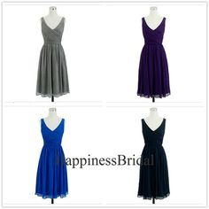 Custom Aline Vneck Sleeveless Kneelength by HappinessBridal, $69.00 Same dress, can be any color, but short