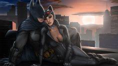 costumes, batman arkham city, roof, batman x catwoman
