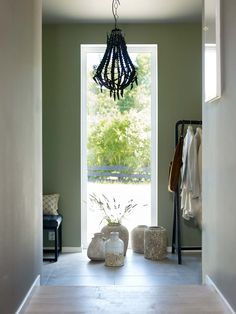Green Leaves, Ikea, Windows, Curtains, Interior Design, Painting, Furniture, Home Decor, Fantasy