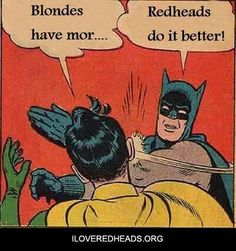 Redheads rule!!! Batman Meme, Pi Day, Can't Stop Laughing, Hilarious, Funny Memes, Saint Valentin, The Fool, I Laughed, Shift Work