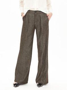 Brown Wide-Leg Pant