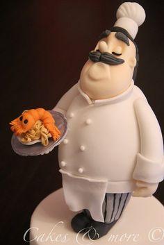 The chef cake topper