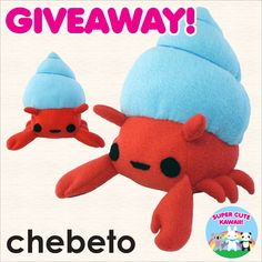 I've entered to win a cute handmade Hermie the Crab plush from Chebeto at @sckawaii!  (link: http://www.supercutekawaii.com/2016/08/chebeto-hermit-crab-plush-giveaway/) supercutekawaii.com/2016/08/chebet… You should join as well(≧∇≦)