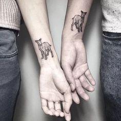 24 ideas for tattoo animal ideas inspiration Tattoo Goat, Lamb Tattoo, Sheep Tattoo, Music Tattoos, Arrow Tattoos, New Tattoos, Tattos, Geometric Animal, Flowers