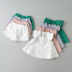 $11.95 - 2Pcs Kids Baby Girls Summer Outfit Sleeveless Blouse+Shorts Fashion Clothes Sets #ebay #Fashion