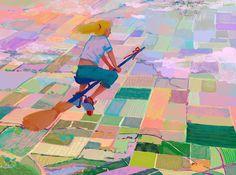 """Fly Girl"" by Madeline Haynes  Print available at http://www.inprnt.com/gallery/mhaynes/fly-girl/?utm_content=buffer532ce&utm_medium=social&utm_source=pinterest.com&utm_campaign=buffer  #artprint #art #illustration"