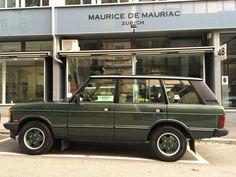 Land rover at Maurice de Mauriac, Zurich. Swiss Made Watches, Zurich, Cool Cars, Van, Vans, Vans Outfit