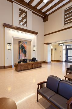 The main lobby at UCLA Medical Center, Santa Monica
