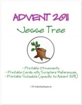 These Jesse Tree printables are created with a 2011 schedule, but I'm thinking they could be adapted to the current year.