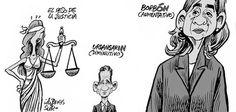 El humorista gráfico de SUR dedica su viñeta de este sábado al peculiar peso de la Justicia en Urdangarín y Borbón