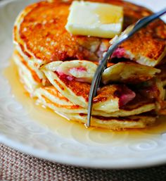 1. Strawberry Buttermilk Pancakes | Community Post: 42 Ways To Up Your Pancake Game