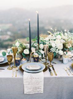 Elegant organic tablescape: http://www.stylemepretty.com/2017/05/19/elegant-nordic-inspired-wedding-shoot/ Photography: Sawyer Baird - http://www.sawyerbaird.com/