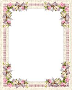 Hebergeur d'image Frame Border Design, Page Borders Design, Flower Backgrounds, Flower Wallpaper, Ribbon Png, Boarders And Frames, Vintage Borders, Floral Embroidery Patterns, Frame Background