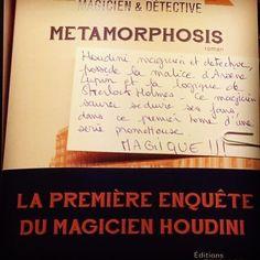 Metamorphosis: Houdini magicien et détective  Editions Le Masque Coup de coeur @librairie_halldulivre @robert_myriam #polar #book #livre #ideescadeaux #ideecadeaunoel #lespetitsmotsdeslibraires