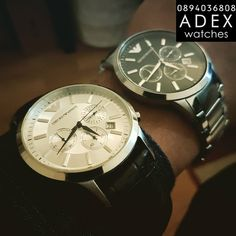 AR2432 & AR2434 Emporio Armani Mens Watches, Omega Watch, Watches For Men, Accessories, Top Mens Watches, Men's Watches, Men Watches, Jewelry