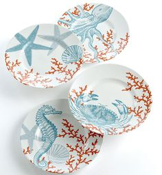 Coastal Life Dessert Plates