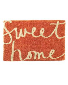 cute door mat. Could totally DIY