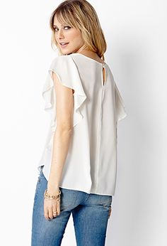 Flutter By Woven Top | FOREVER 21 - 2000070701