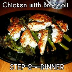 Chicken with Broccoli #Step2 #cwp #CambridgeDiet Cambridge Diet Step 2, Cambridge Weight Plan, 200 Calorie Meals, Low Calorie Recipes, Diet Recipes, Cwp Step 2 Recipes, 200 Calories, Chicken Broccoli, Slimming World Recipes