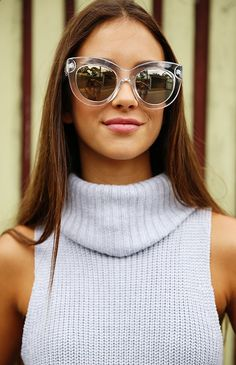 Quay Eyeware x Shay Mitchell - Jinx Sunglasses - Clear | Accessories | Peppermayo