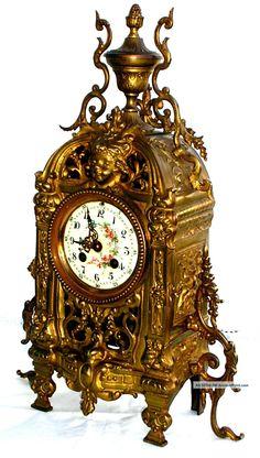 Antique Clocks | Antique 19th Century French Bronze Mantel Clock / Pendulum Clocks ...