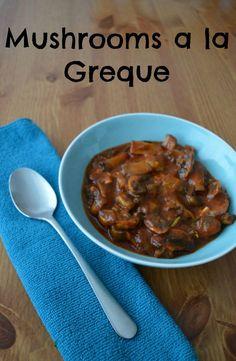 Mushrooms a la grecque recipe