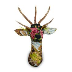 LOVE Tapestry Wall Mount Stags Head | Amy Nicholas Interior Design