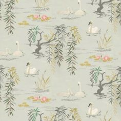 print swan green wallpaper-ninacampbell
