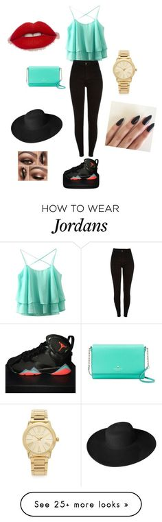 """""""Untitled #1"""" by acyprian950 on Polyvore featuring NIKE, Kate Spade, Michael Kors and Dorfman Pacific"""