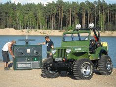 Full Scale Replica of Tamiya Wild Willy Jeep Jeep Trails, Jeep Brand, Rc Cars And Trucks, Motorcycle Wheels, Suspension Design, Thing 1, Kids Ride On, Jeep Life, Tamiya