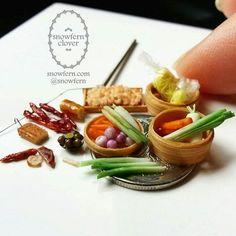 Miniature vegetables #miniaturefood #miniaturevegetables