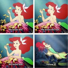 One of the BESTEST and most memorable parts of the Little Mermaid. Every time I see a flower I do this. <3