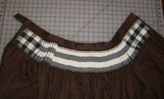 Cartridge pleating using gingham as guide. I've personally given up on measured pleats for most situations but gingham is a nice easy way to measure.