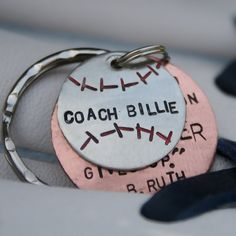 Baseball Player/Coach Keychain by CharmsofFaith on Etsy, $24.00