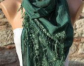 fatwoman-Lace scarves - on Etsy $15.30