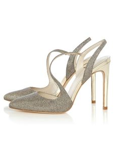 24 Stunning Sparkly Shoes for Brides and Bridesmaids | Karen Millen Crystal Asymmetric Collection