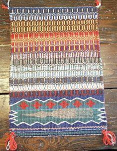 weaving | HOPI-LOOMED DIAMOND TWILL PICTORIAL SAMPLER WEAVING