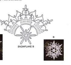 Galeria rozmaitości: Wzory szydełkowe-Boże Narodzenie Crochet Snowflake Pattern, Christmas Crochet Patterns, Crochet Snowflakes, Holiday Crochet, Christmas Snowflakes, Crochet Diagram, Crochet Motif, Irish Crochet, Crochet Doilies