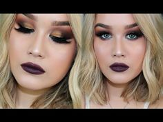 Gold Smokey EyeTutorial x Morphe 35R Palette Teal Liner! | Jenna Danielle Beauty - SoundMixed