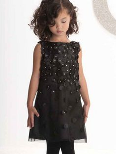 95c598f6ec70f Falling for Dots Black Party Dress by Biscotti for Fall 2013 Girls Black  Dress, Black