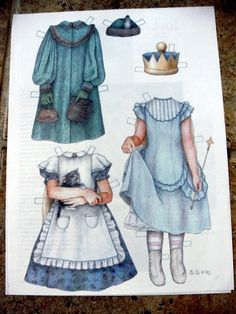 Paper Doll by Sue Shanahan Alice in Wonderland from Doll Reader Magazine 1993 | eBay