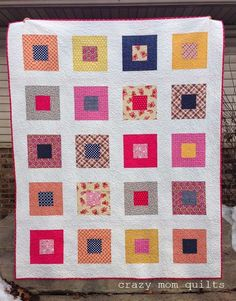 Welcome to finish it up Friday!Last night about 11:30 I finished hand binding my Picadilly quilt. I just LOVE it! Fabric is Picadilly by Denyse Schmidt from JoAnn's with a few stash additions. The b