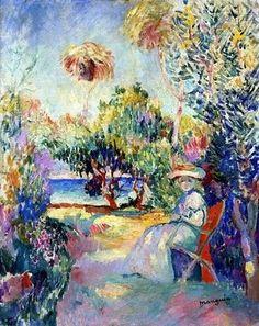 """Henri Manguin (1874-1949), """"Jeanne in the Garden of Cavaliere"""""""