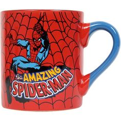 Have a drink with your favorite superhero! The Silver Buffalo Marvel Comics Amazing Spider-Man 14 Ounce Ceramic Mug is perfect for any fan of Spider-Man. Before a long day of world-saving and criminal-catching, even the toughest Marvel Heroes could use a cup of coffee! This colorful mug features a cool graphic design of Spidey in action and his magic web wraps around the entire cup. It is microwave safe and can hold up to 14 ounces of your favori...