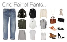 """One Pair of Pants"" by stractstyle ❤ liked on Polyvore featuring Barbour, Saint James, Chloé, Raquel Allegra, Étoile Isabel Marant, A.P.C., Seneca Rising, Ian R.N., Current/Elliott and Kristen Elspeth"