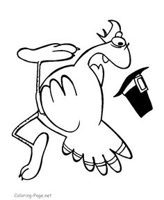 Thanksgiving Coloring Page - Turkey 3