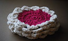 Red and White Flower coaster (Set of 4) 2 by Lady Lu Lu's, via Flickr